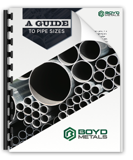 Click to download the Boyd Metals Guide to Pipe Sizes!