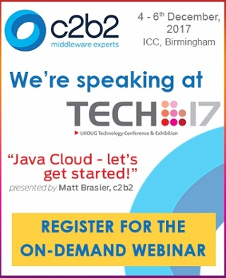 Tech17 webinar registration Matt Brasier Oracle Java Cloud