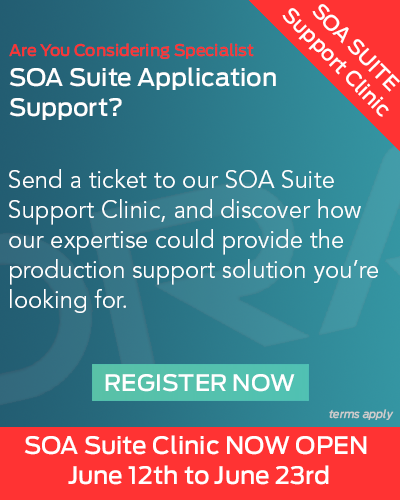 SOA Suite Infrastructure Support Clinic