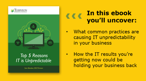 Get the E-Book Top 5 Reasons IT is Unpredictable