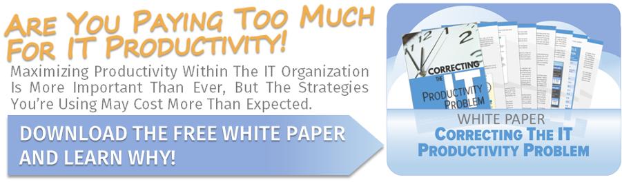 Correcting The IT Productivity Problem