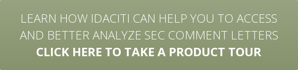 Learn how idaciti can help you to access  and better analyze SEC comment letters Click here to take a product tour