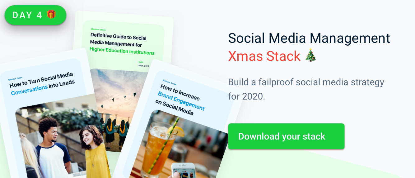 Social Media Management Xmas Stack