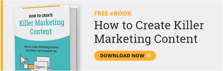 Create Marketing Content eBook