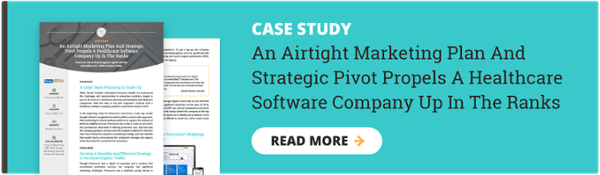 Healthcare Software Digital Marketing Case Study