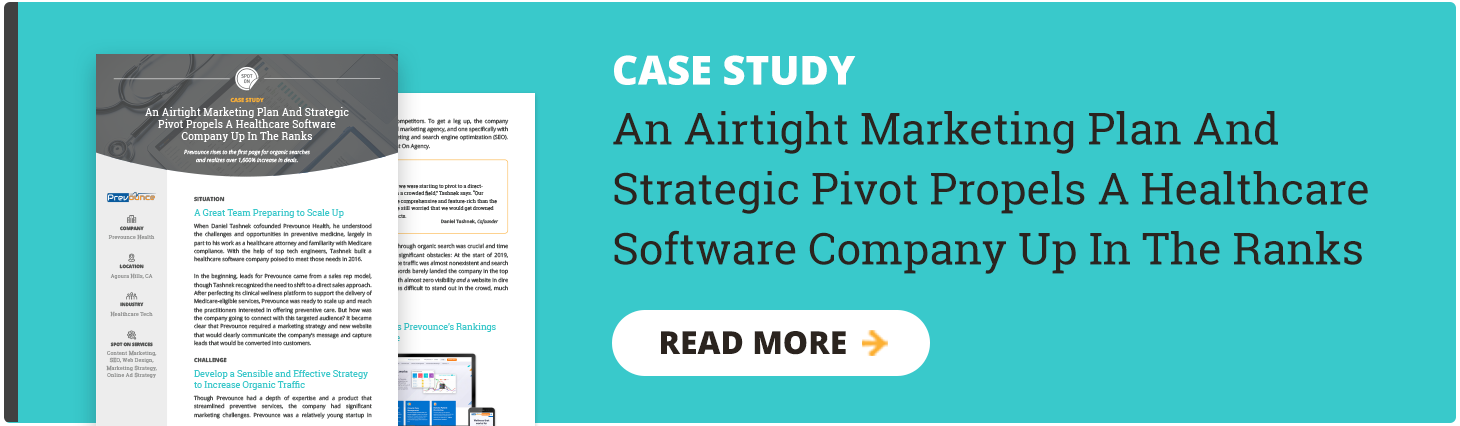 Healthcare Software Digital Marketing Case Study