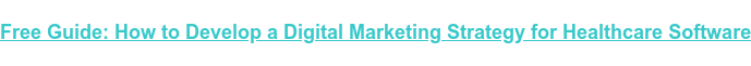 Free Guide: How to Develop a Digital Marketing Strategy for Healthcare Software