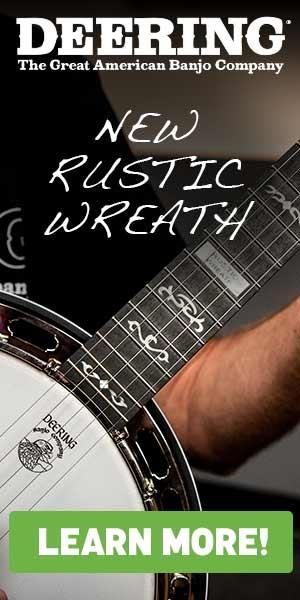Deering Rustic Wreath banjo ad