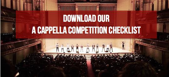 a cappella competition checklist