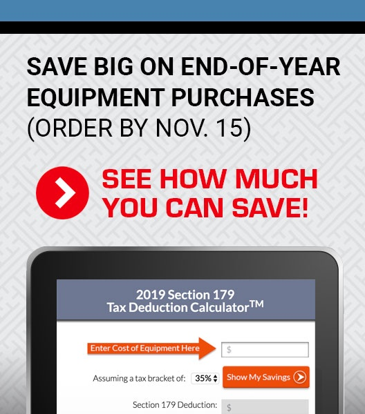 End-of-the-year Savings on Equipment