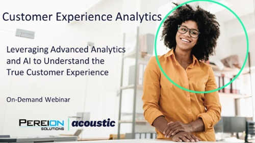 Leveraging Advanced Analytics and AI to Understand the True Customer Experience Webinar