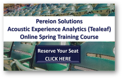 Pereion's Acoustic Analytics (Tealeaf) Spring Training Course
