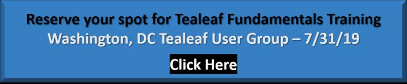 Tealeaf Fundamental Training - DC RUG - Reserve your spot