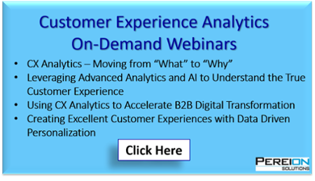 Pereion Solution Customer Experience Analytics On-Demand Webinars