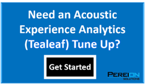 Acoustic Experience Analytics (Tealeaf) TuneUp
