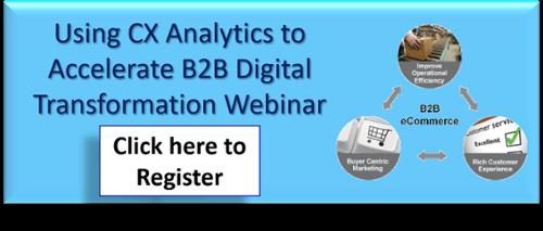 On-demand Webinar - Using CX analytics to Accelerate B2B Digital Transformation