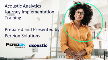 Acoustic Experience Analytics (Tealeaf) Journey Implementation Training