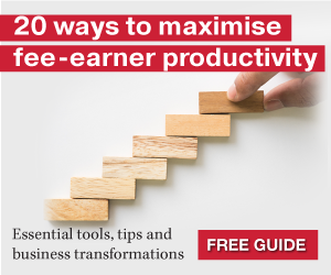 20 ways to maximise fee-earner productivity - download our free guide