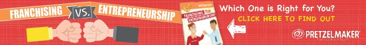 Franchise versus entrepreneur infographic pretzelmaker