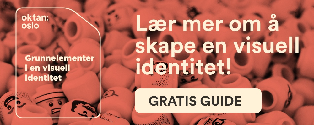 CTA for å laste ned guide om visuell identitet