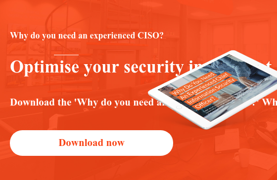 Why do you need an experienced CISO?  Optimise your security investment and risk management strategy with a cyber  security leader.  Download the