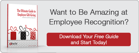 "Download our FREE guide, ""The Ultimate Guide to Employee Gift-Giving"" and improve your workplace's employee appreciation TODAY!"