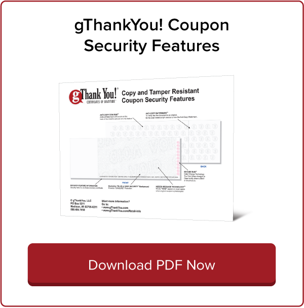 gThankYou! Coupon Security Features Download