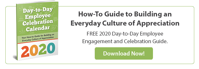 "Click to Download Your FREE ""2020 Day-to-Day Employee Celebration Calendar"""