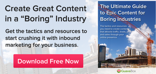 Download the Ultimate Guide to Epic Content for Boring Industries