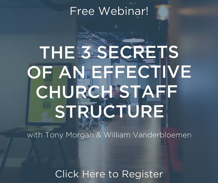 Free webinar church staffing & church structure Tony Morgan and William Vanderbloemen