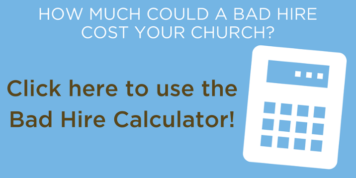 how much could a hiring mistake cost your church