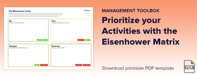 Prioritize your activities with the Eisenhower Matrix