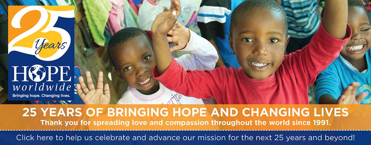 Celebrating 25 years of giving HOPE