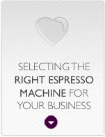 Selecting the right espresso machine for your business