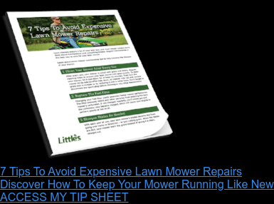 7 Tips To Avoid Expensive Lawn Mower Repairs Discover How To Keep You Mower Running Like New ACCESS MY TIP SHEET