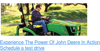 Experience The Power Of John Deere In Action Schedule a test drive