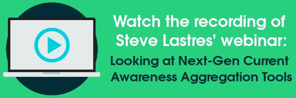 Watch the recording of Steve Lastres' webinar