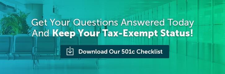Download Our 501c Checklist