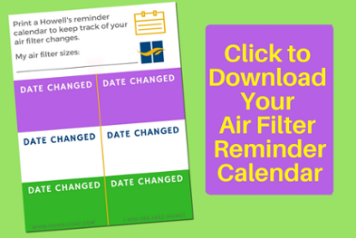 air filter reminder calendar