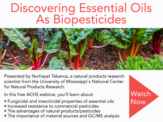 Essential Oils As Biopesticides