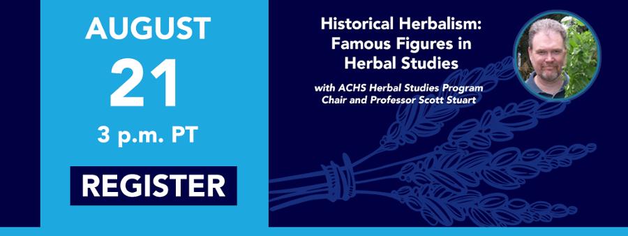 Historical Herbalism Webinar with Scott Stuart