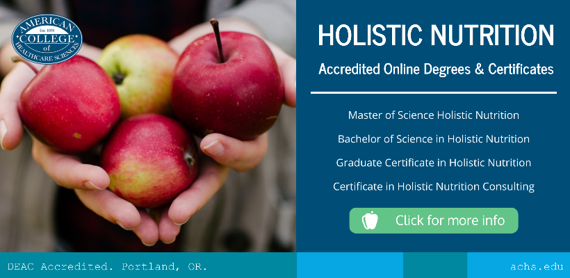 Image advertising holistic nutrition degree programs