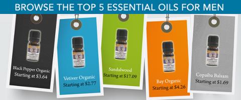 Top 5 Essential Oils For Men