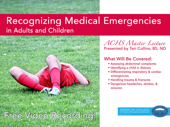 Recognizing Medical Emergencies in Adults and Children Video
