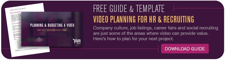 Free Video Planning Guide and Creative Brief Template for Human Resources and Recruiters - Plum Media