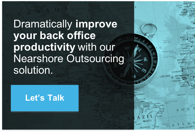 Banner promoting a Consultation: Dramatically improve your back office productivity with our Nearshore Outsourcing solution