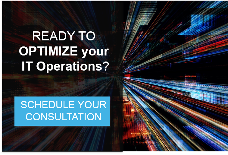 Banner promoting a consultation to optimize your IT operations