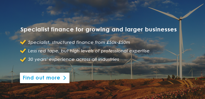 Specialist, structured finance for growing businesses
