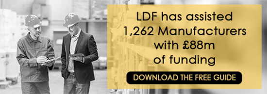 LDF has assisted 1,262 manufacturers with £88m of funding. Download the Guide
