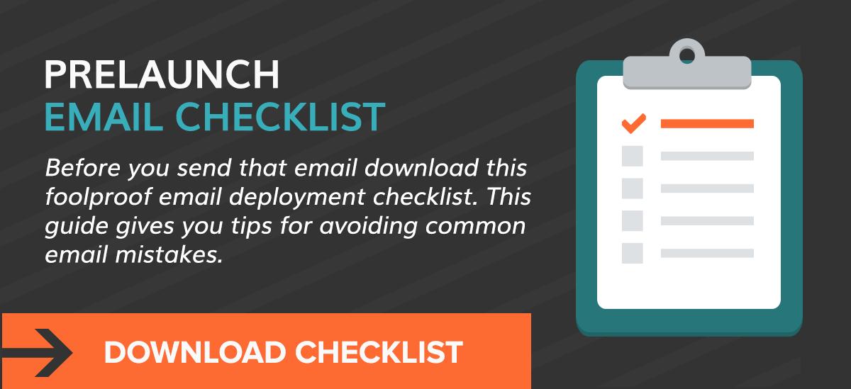 Prelaunch Email Checklist